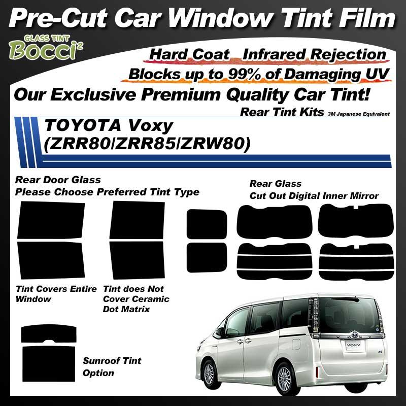 TOYOTA Voxy (ZRR80/ZRR85/ZRW80) Professionally Thermally Shape Pre-Cut Car Tint Film UV IR 3M Japanese Equivalent