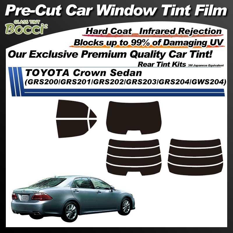 TOYOTA Crown Sedan (GRS200/GRS201/GRS202/GRS203/GRS204/GWS204) Pre-Cut Car Tint Film UV IR 3M Japanese Equivalent