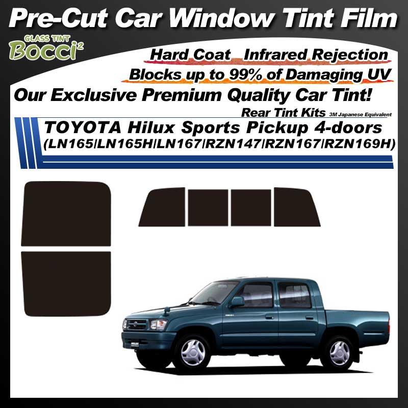 TOYOTA Hilux Sports Pickup 4-doors (LN165/LN165H/LN167/RZN147/RZN167/RZN169H) Pre-Cut Car Tint Film UV IR 3M Japanese Equivalent
