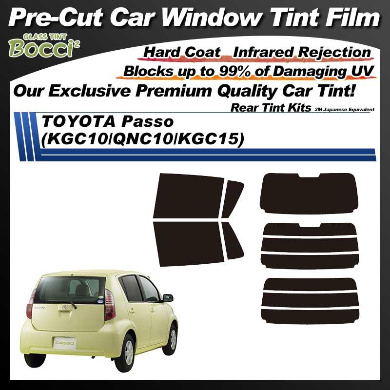 TOYOTA Passo (KGC10/QNC10/KGC15) Pre-Cut Car Tint Film UV IR 3M Japanese Equivalent