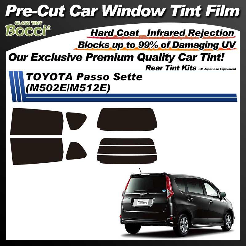TOYOTA Passo Sette (M502E/M512E) Pre-Cut Car Tint Film UV IR 3M Japanese Equivalent
