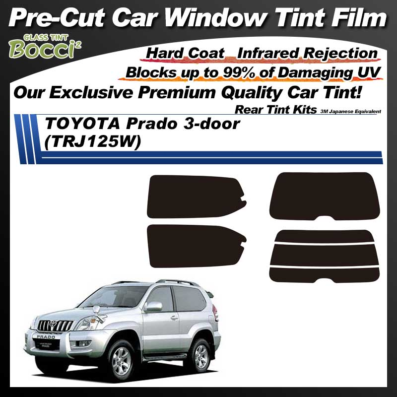 TOYOTA Prado 3-doors (TRJ125W) Pre-Cut Car Tint Film UV IR 3M Japanese Equivalent