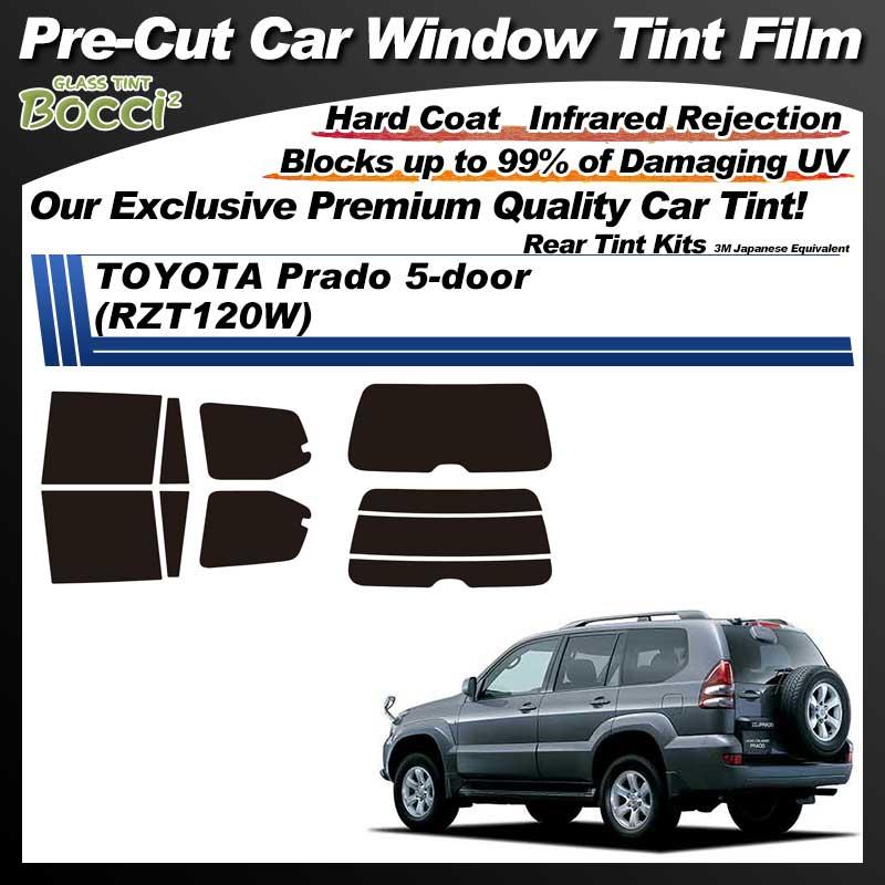 TOYOTA Prado 5-doors (RZT120W) Pre-Cut Car Tint Film UV IR 3M Japanese Equivalent
