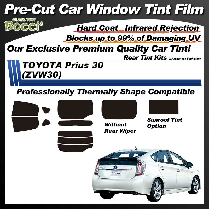 TOYOTA Prius 30 (ZVW30) Professionally Thermally Shape With Sunroof Pre-Cut Car Tint Film UV IR 3M Japanese Equivalent