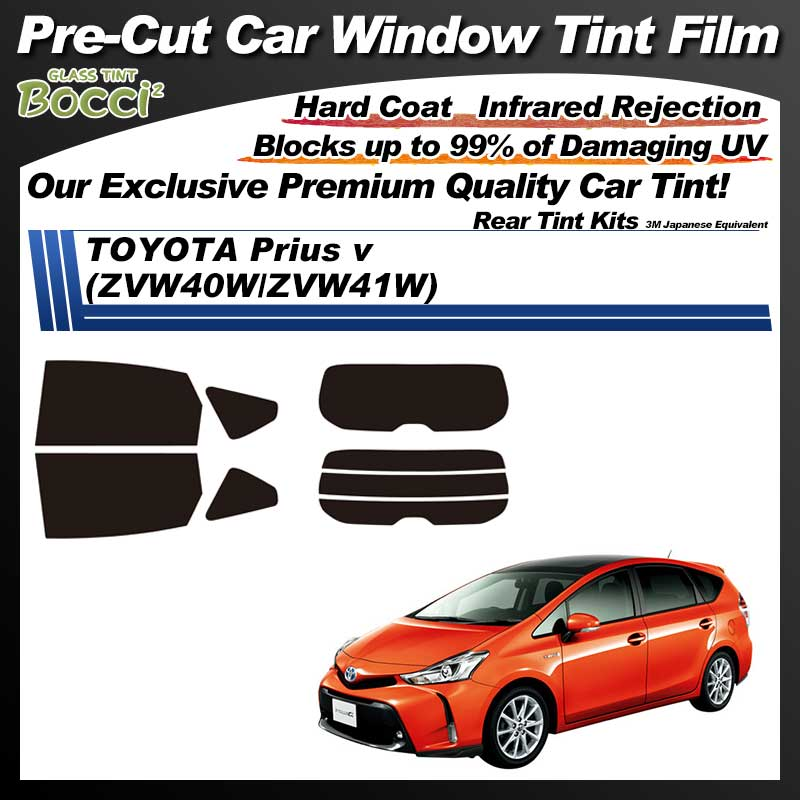 TOYOTA Prius v (ZVW40W/ZVW41W) Pre-Cut Car Tint Film UV IR 3M Japanese Equivalent
