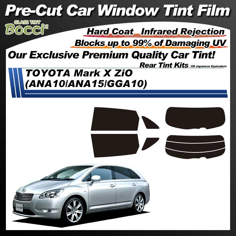 TOYOTA Mark X ZiO (ANA10/ANA15/GGA10) Pre-Cut Car Tint Film UV IR 3M Japanese Equivalent