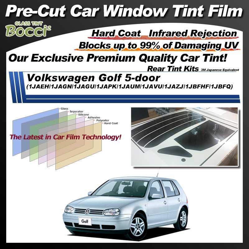 Volkswagen Golf 5-door (1JAEH/1JAGN/1JAGU/1JAPK/1JAUM/1JAVU/1JAZJ/1JBFHF/1JBFQ) Pre-Cut Car Tint Film UV IR 3M Japanese Equivalent