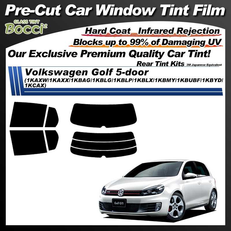 Volkswagen Golf 5-door (1KAXW/1KAXX/1KBAG/1KBLG/1KBLP/1KBLX/1KBMY/1KBUBF/1KBYD/1KCAX) Pre-Cut Car Tint Film UV IR 3M Japanese Equivalent