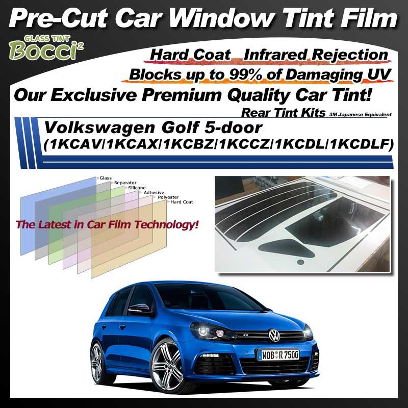 Volkswagen Golf 5-door (1KCAV/1KCAX/1KCBZ/1KCCZ/1KCDL/1KCDLF) Pre-Cut Car Tint Film UV IR 3M Japanese Equivalent