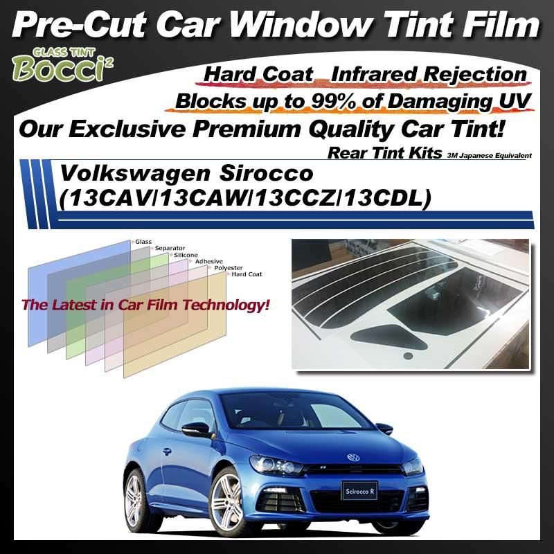 Volkswagen Sirocco (13CAV/13CAW/13CCZ/13CDL) Pre-Cut Car Tint Film UV IR 3M Japanese Equivalent