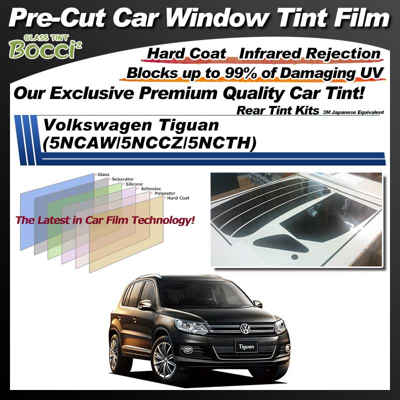 Volkswagen Tiguan (5NCAW/5NCCZ/5NCTH) Pre-Cut Car Tint Film UV IR 3M Japanese Equivalent