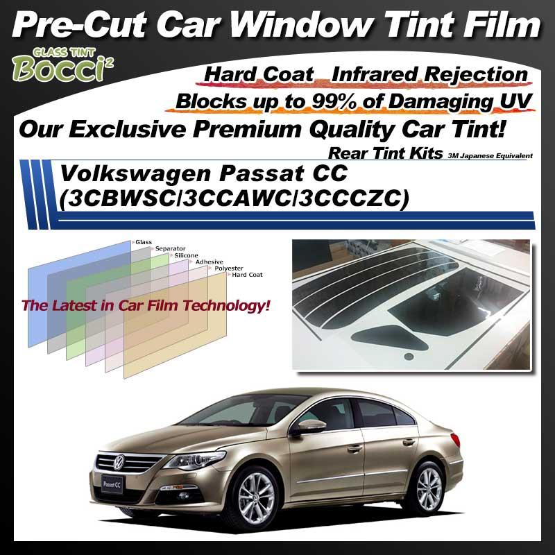 Volkswagen Passat CC (3CBWSC/3CCAWC/3CCCZC) Pre-Cut Car Tint Film UV IR 3M Japanese Equivalent