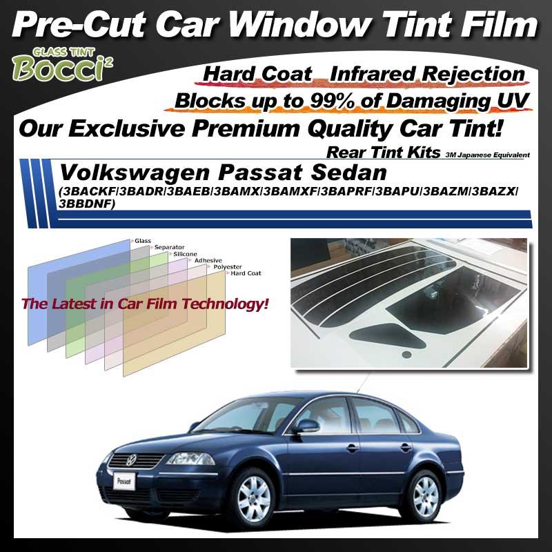 Volkswagen Passat Sedan (3BACKF/3BADR/3BAEB/3BAMX/3BAMXF/3BAPRF/3BAPU/3BAZM/3BAZX/3BBDNF) Pre-Cut Car Tint Film UV IR 3M Japanese Equivalent