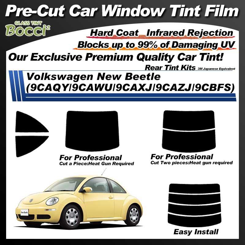 Volkswagen New Beetle (9CAQY/9CAWU/9CAXJ/9CAZJ/9CBFS) Pre-Cut Car Tint Film UV IR 3M Japanese Equivalent