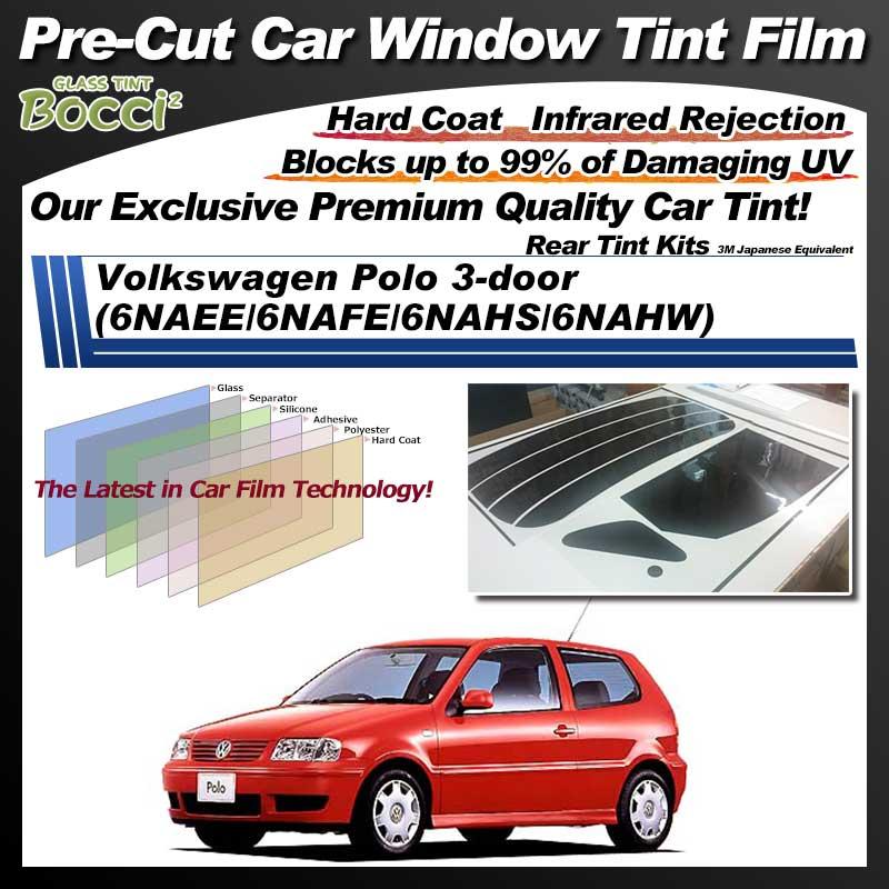 Volkswagen Polo 3-door (6NAEE/6NAFE/6NAHS/6NAHW) Pre-Cut Car Tint Film UV IR 3M Japanese Equivalent