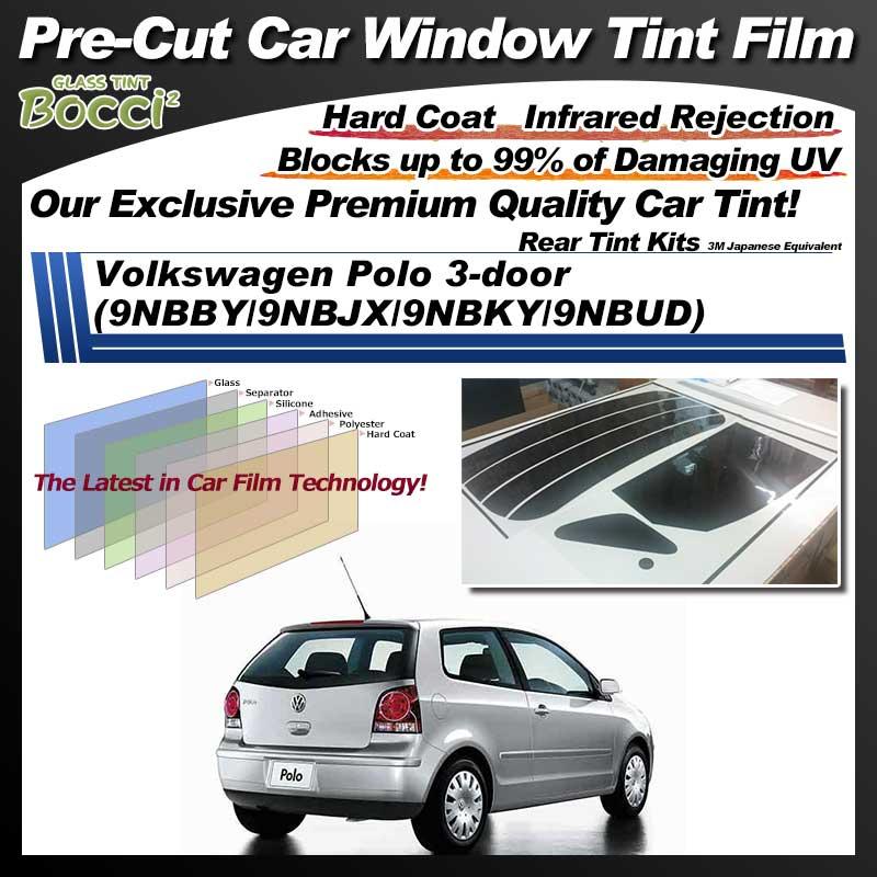 Volkswagen Polo 3-door (9NBBY/9NBJX/9NBKY/9NBUD) Pre-Cut Car Tint Film UV IR 3M Japanese Equivalent