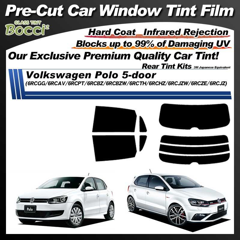Volkswagen Polo 5-door (6RCAV/6RCGG/6RCBZ/6RCBZW) Pre-Cut Car Tint Film UV IR 3M Japanese Equivalent