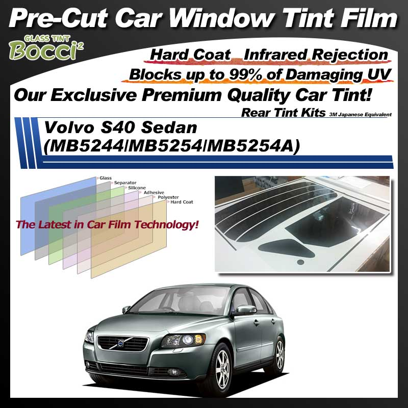 Volvo S40 Sedan (MB5244/MB5254/MB5254A) Pre-Cut Car Tint Film UV IR 3M Japanese Equivalent