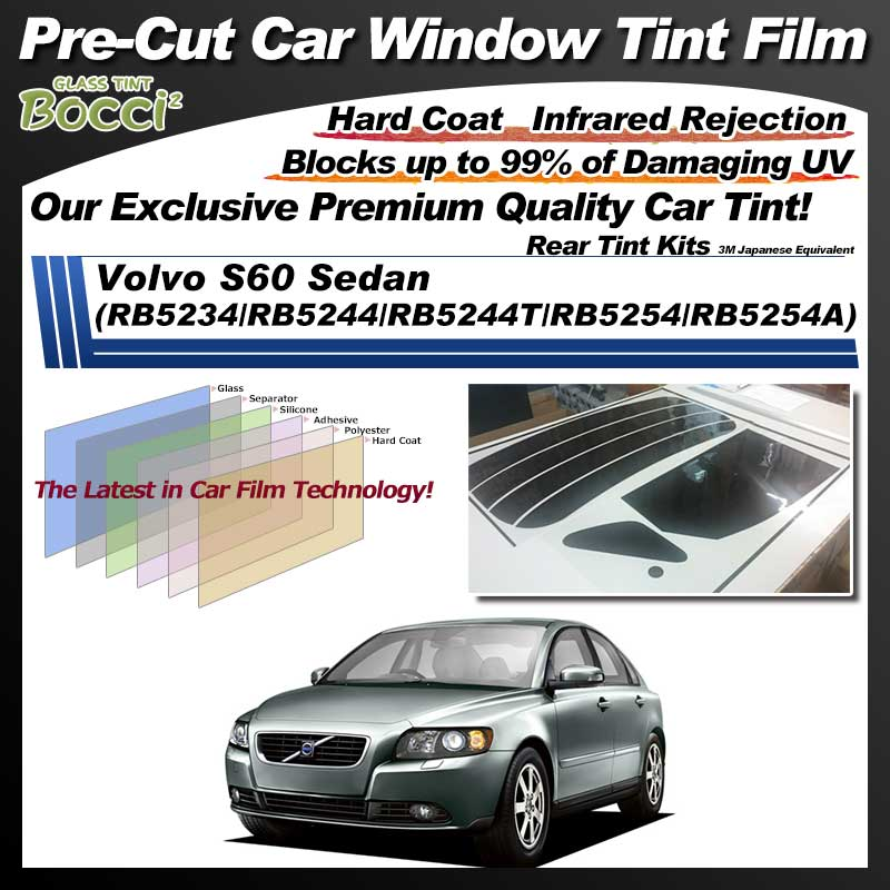 Volvo S60 Sedan (RB5234/RB5244/RB5244T/RB5254/RB5254A) Pre-Cut Car Tint Film UV IR 3M Japanese Equivalent