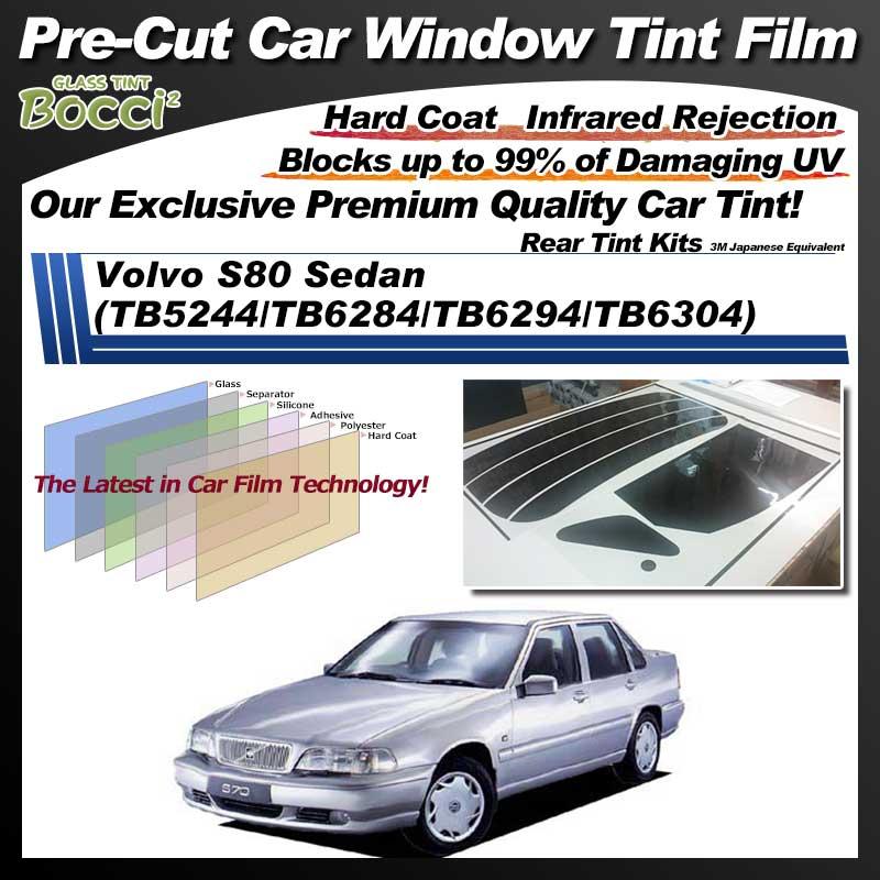Volvo S80 Sedan (TB5244/TB6284/TB6294/TB6304) Pre-Cut Car Tint Film UV IR 3M Japanese Equivalent