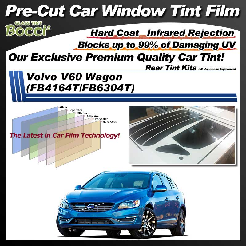 Volvo V60 Wagon (FB4164T/FB6304T) Pre-Cut Car Tint Film UV IR 3M Japanese Equivalent