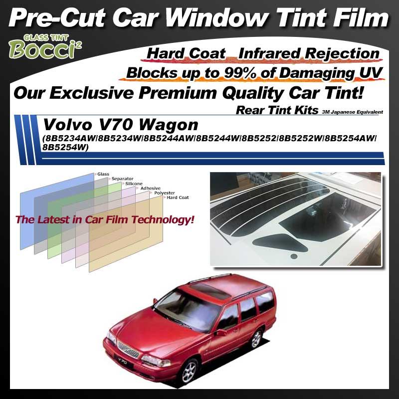 Volvo V70 Wagon (8B5234AW/8B5234W/8B5244AW/8B5244W/8B5252/8B5252W/8B5254AW/8B5254W) Pre-Cut Car Tint Film UV IR 3M Japanese Equivalent
